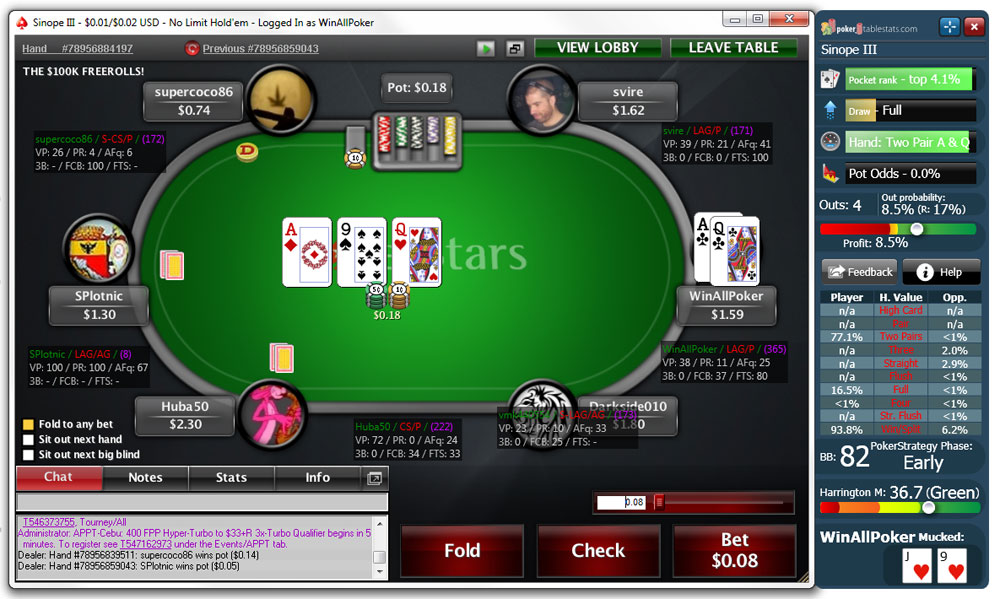 Pokerstars Player Stats