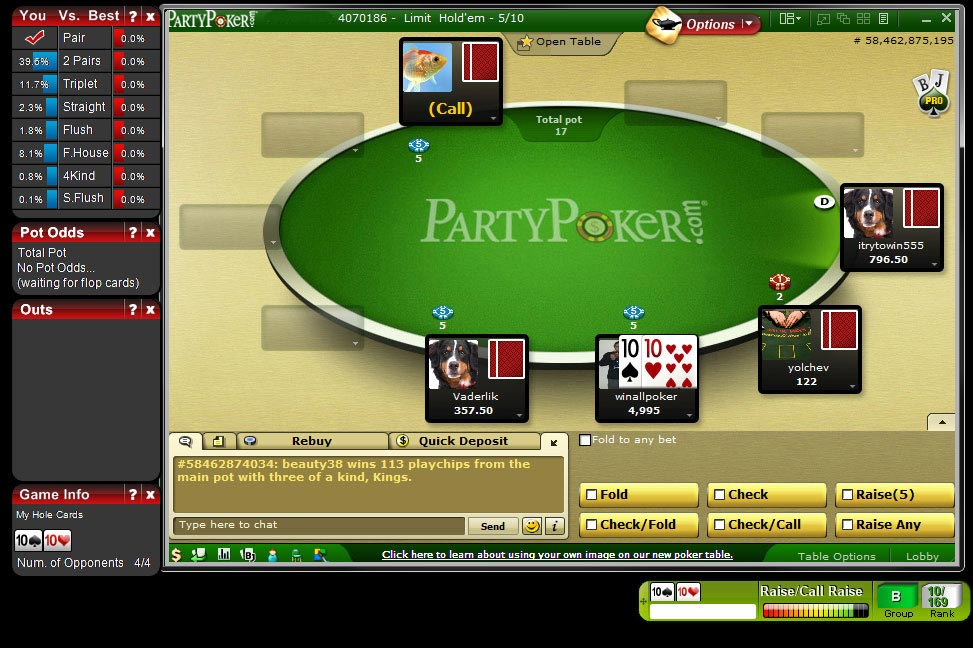 party poker online spielen ohne download