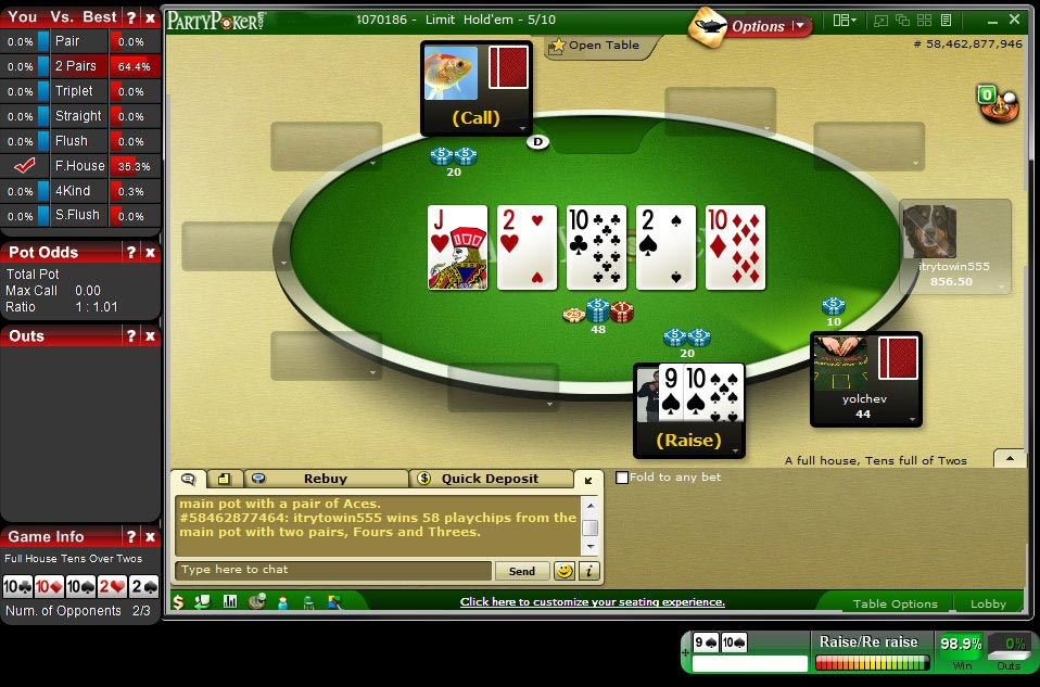 Does 3 of a kind beat a straight in 5 card poker
